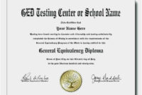 Free Download 52 Ged Diploma Template Format  Free with Best Ged Certificate Template