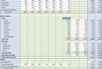 Free Downloadable Catering Contracts Forms  Catering throughout Recipe Cost Spreadsheet Template