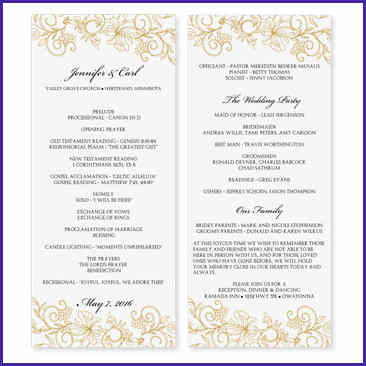 Free Downloadable Wedding Program Template That Can Be pertaining to Wedding Reception Agenda Template