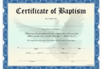 Free Editable Baby Dedication Certificates Lovely Free within Best Baptism Certificate Template Word