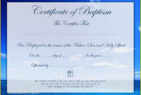 Free Editable Baptism Certificate Template Of 3 Baptism within Quality Christian Baptism Certificate Template