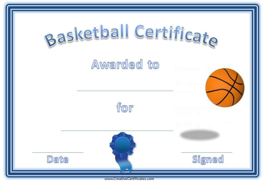 Free Editable Basketball Certificates  Customize Online for Free Netball Achievement Certificate Editable Templates
