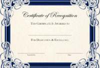 Free Editable Certificate Appreciation Template pertaining to Honor Roll Certificate Template Free 7 Ideas