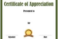 Free Editable Certificate Of Appreciation  Customize with Printable Recognition Certificate Editable