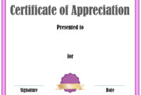 Free Editable Certificate Of Appreciation  Customize with regard to Certificate Of License Template