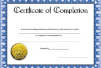 Free Editable Certificate Of Completion Templates  Jurjur in Free Training Completion Certificate Templates