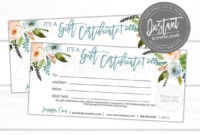 Free Editable Gift Certificate Template For Your Needs in Certificate Of Kindness Template Editable Free