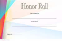 Free Editable Honor Roll Certificate Template 1  Two pertaining to Worlds Best Boss Certificate Templates Free