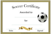Free Editable Soccer Certificates  Customize Online with Free Netball Achievement Certificate Editable Templates