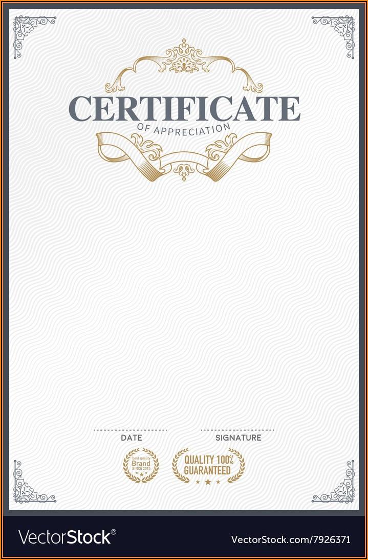 Free Editable Stock Certificate Template  Template 1 for Editable Stock Certificate Template