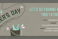 Free Father'S Day Online Invitations  Evite with Fishing Gift Certificate Editable Templates