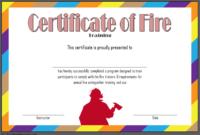 Free Fire Safety Training Certificate Template 1  Two throughout Safety Recognition Certificate Template