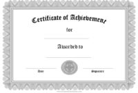 Free Formal Award Certificate Templates  Customize Online with Printable Template For Certificate Of Award