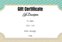 Free Gift Certificate Template  50 Designs  Customize intended for Free 10 Certificate Of Stock Template Ideas