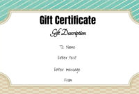 Free Gift Certificate Template  50 Designs  Customize pertaining to Printable Gift Certificates Templates Free