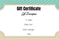 Free Gift Certificate Template  50 Designs  Customize regarding Amazing Donation Certificate Template