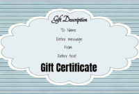 Free Gift Certificate Template  50 Designs  Customize with Amazing Donation Certificate Template