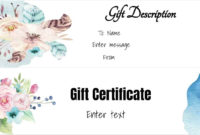 Free Gift Certificate Template  50 Designs  Customize with regard to Tattoo Gift Certificate Template Coolest Designs
