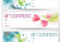 Free Gift Certificate Template  Customize Online And regarding Fillable Gift Certificate Template Free