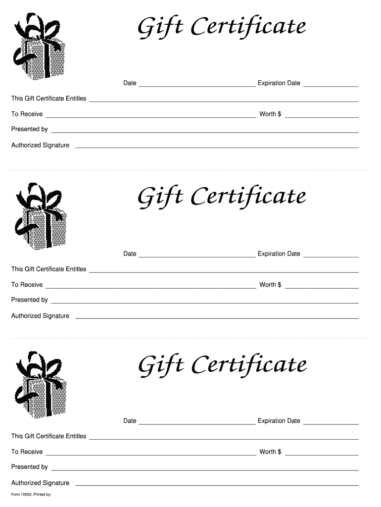 Free Gift Certificate Templates Printable  Calep within Company Gift Certificate Template