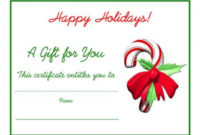 Free Holiday Gift Certificates Templates To Print throughout Fillable Gift Certificate Template Free