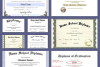 Free Homeschool Diploma Forms Online In 2020 With Images regarding 5Th Grade Graduation Certificate Template
