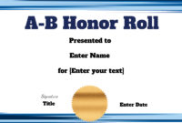 Free Honor Roll Certificate Templates  Customize Online inside Amazing Certificate Of Honor Roll Free Templates