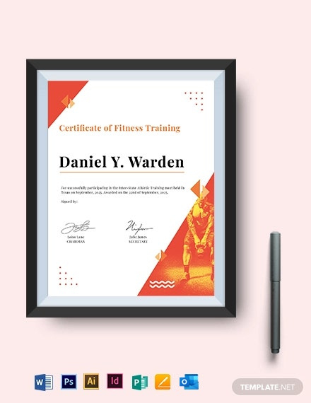 Free Medical Fitness Certificate Template  Word Doc throughout Boxing Certificate Template