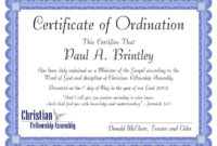 Free Minister Ordination Certificate Clean Best S Of with regard to Free Ordination Certificate Template