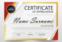 Free Modern Certificate Of Appreciation Template Svg Dxf with Template For Recognition Certificate