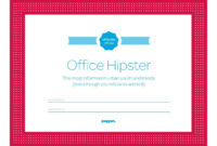 "Free Office Certificates I Like ""Office Hipster"" And ""The pertaining to Amazing Superlative Certificate Template"