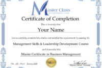 Free Online Business Management Training Course Certificates in Best Anger Management Certificate Template