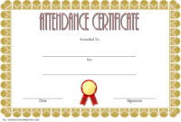 Free Perfect Attendance Certificate Word Template 2020 Up inside Best Vbs Attendance Certificate Template