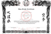 Free Pinjim Moscatello On Prjoects Karate Karate throughout Martial Arts Certificate Templates