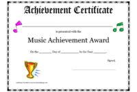 Free Printable Achievement Award Certificate Template inside Choir Certificate Template