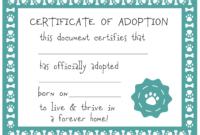 Free Printable Adoption Certificate  Free Printable for Child Adoption Certificate Template Editable