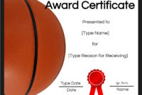 Free Printable Basketball Certificates  Edit Online And intended for Basketball Mvp Certificate Template