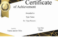 Free Printable Certificate Of Achievement  Customize Online inside Printable Template For Certificate Of Award