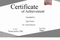 Free Printable Certificate Of Achievement  Customize Online intended for Certificate Of License Template