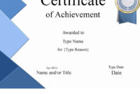 Free Printable Certificate Of Achievement  Customize Online with regard to Certificate Of License Template