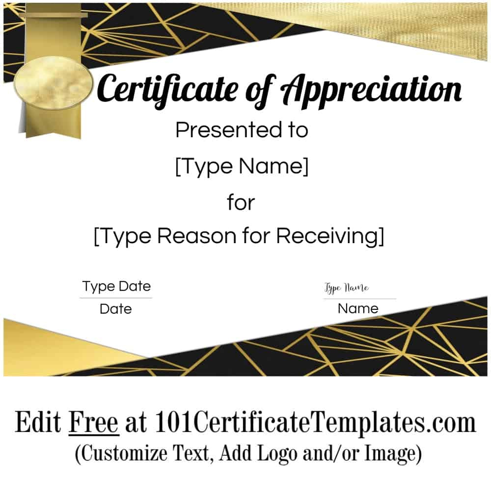 Free Printable Certificate Of Appreciation Template throughout Awesome Thanks Certificate Template