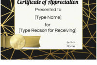 Free Printable Certificate Of Appreciation Template within Certificate Of Appreciation Template Free Printable