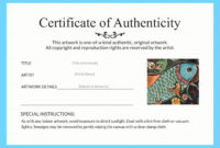 Free Printable Certificate Of Authenticity Templates in Quality Certificate Of Authenticity Templates