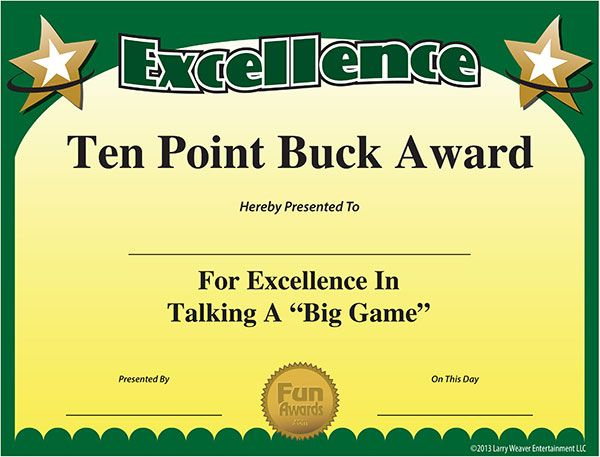 Free Printable Certificates  Funny Printable Certificates pertaining to Superlative Certificate Template