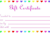 Free Printable Coupons For Unique Gift Ideas With Images in Best Fillable Gift Certificate Template Free