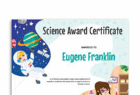 Free Printable Elementary Science Award Certificate in Free Science Award Certificate Templates