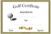Free Printable Golf Certificates  Gift Certificate intended for Golf Gift Certificate Template