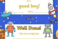 Free Printable Good Boy Award Certificates  Englanti intended for Printable Good Behaviour Certificate Template 10 Kids Awards