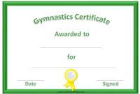 Free Printable Gymnastics Awards  Customize Online for Gymnastics Certificate Template