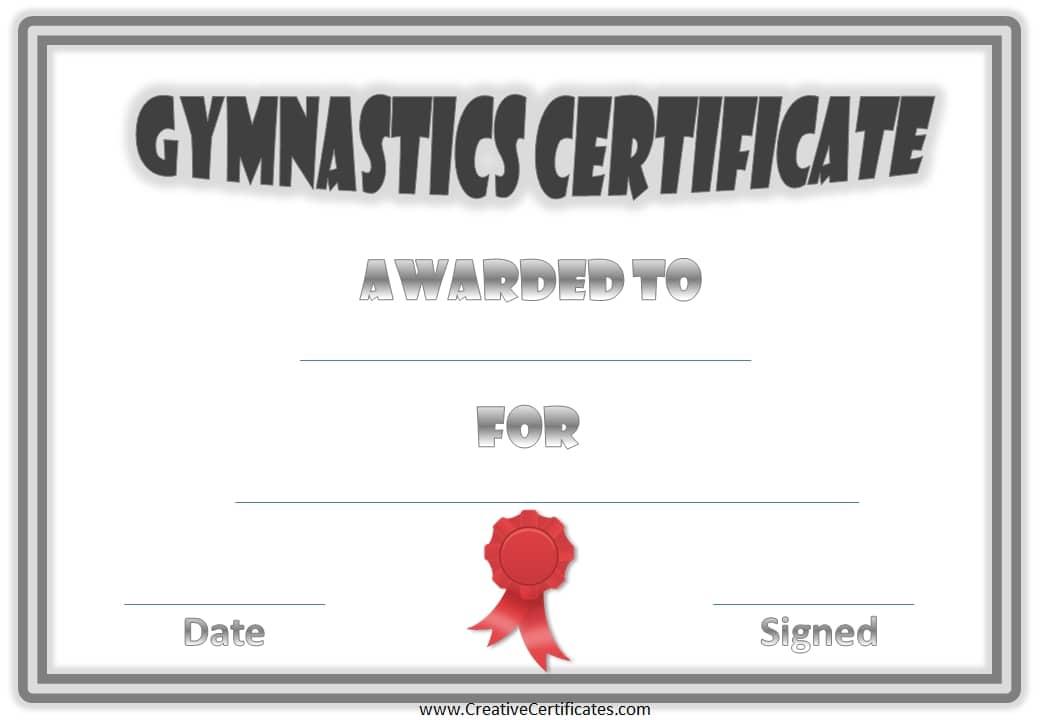 Free Printable Gymnastics Awards  Customize Online with Badminton Achievement Certificates